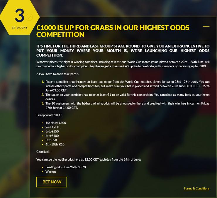 Guts.com June 26 World Cup 2014 Event