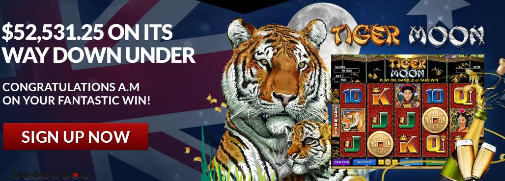 Guts.com Tiger Moon slots $52k jackpot