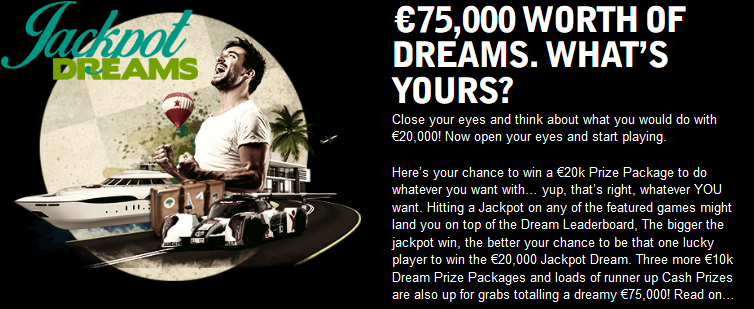 Betsafe Jackpot Dreams Promotion for Mega Fortune Dreams