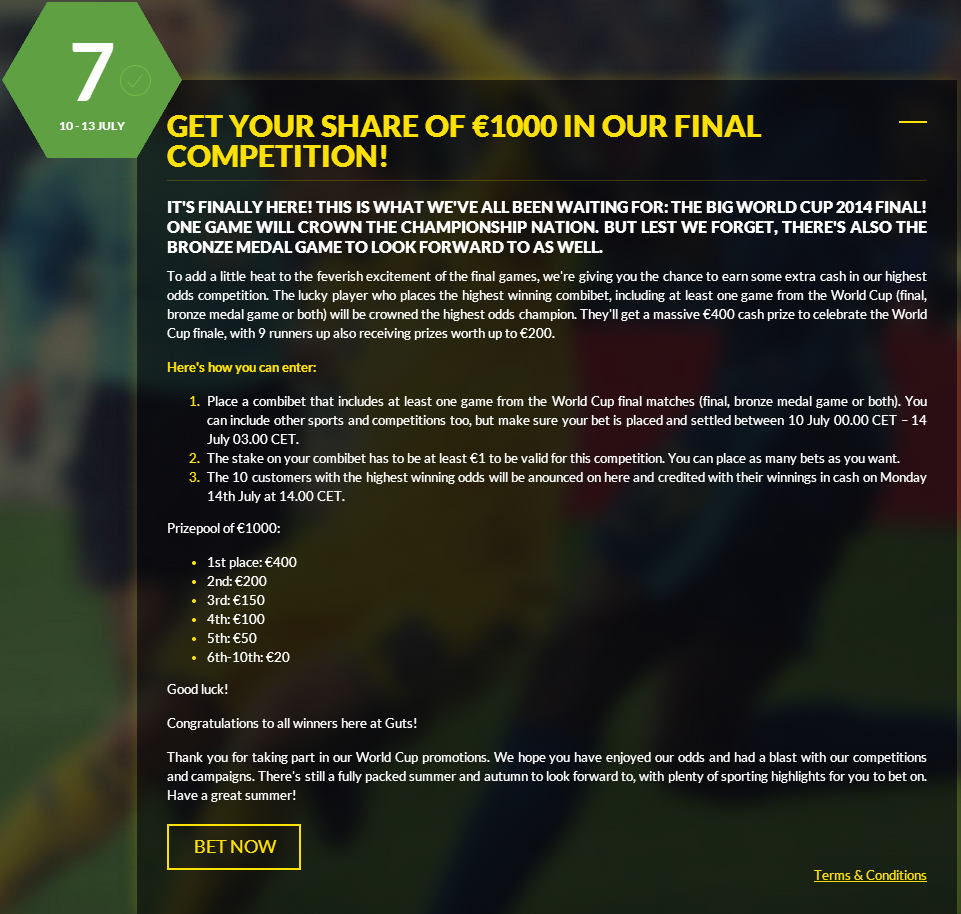 Guts.com's Final World Cup 2014 Promotion