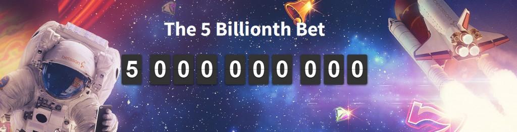 Betsson's 5 billionth bet