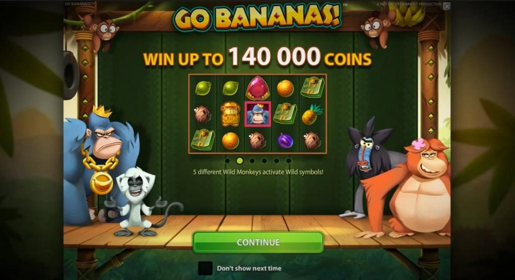 Go Bananas NetEnt slot