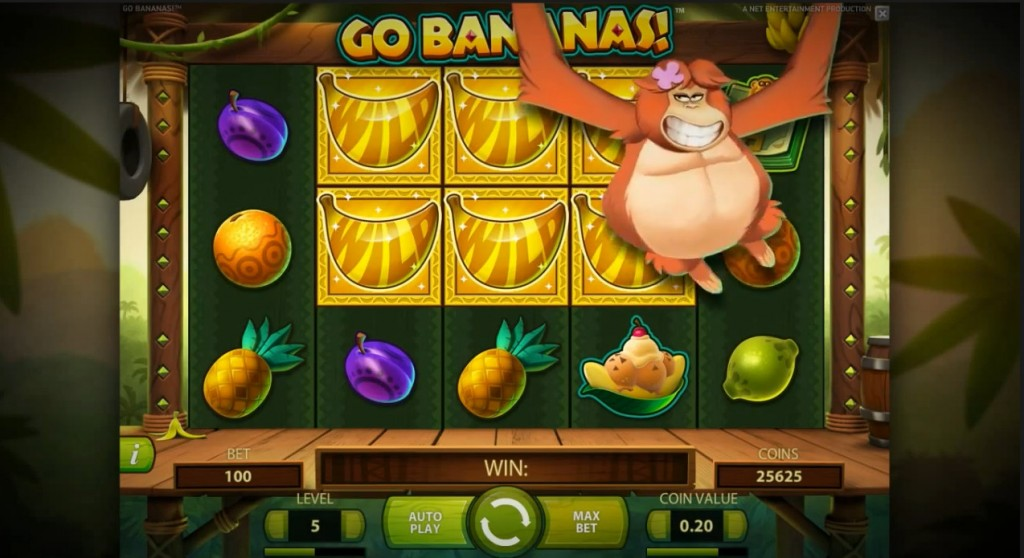 Go Bananas NetEnt slots small win