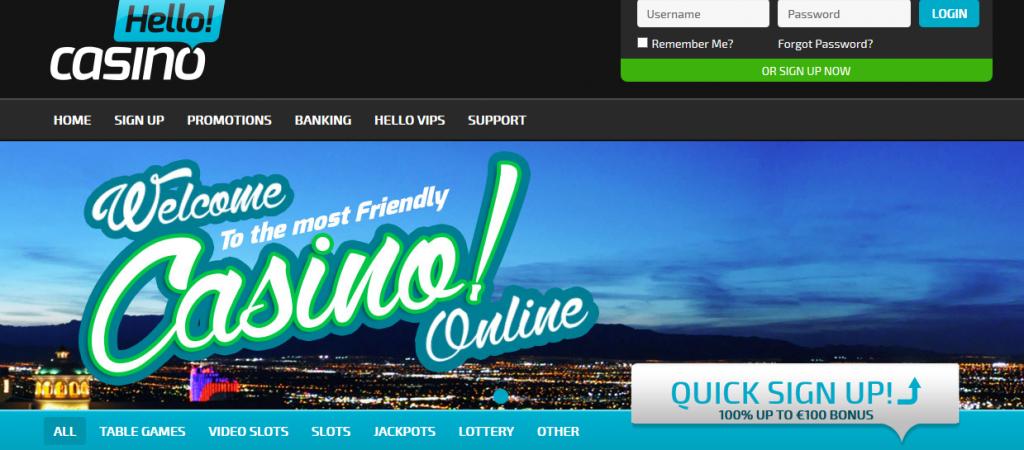 hellocasino homepage
