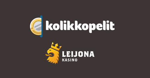 Kolikkopelit and Leijona Casino logos
