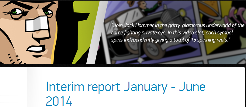 NetEnt Interm Report January - June 2014