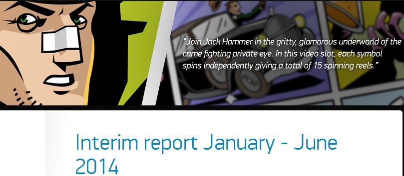 NetEnt Interm Report January - June 2014