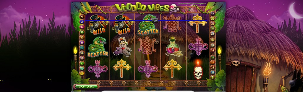 Voodoo Vibes slot by NetEnt
